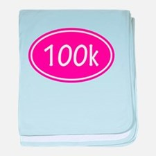 Pink 100k Oval baby blanket