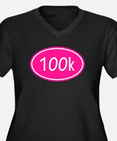 Pink 100k Oval Plus Size T-Shirt