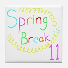 Spring Break 11 Tile Coaster