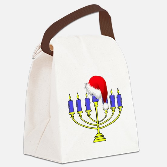 Christmas Menorah Canvas Lunch Bag