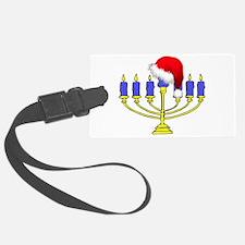 Christmas Menorah Luggage Tag