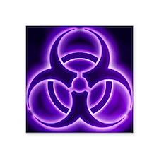 "glowingBiohazard3PurpleT3BC Square Sticker 3"" x 3"""