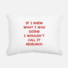 research Rectangular Canvas Pillow