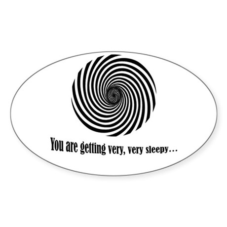 Hypnotize Oval Sticker