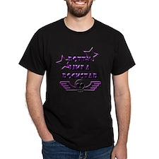 POTTY LIKE A ROCKSTAR - L PURPLE T-Shirt
