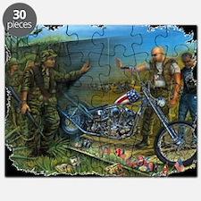 BIKER AT THE WALL Puzzle