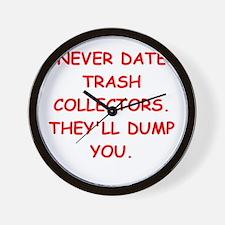 trash collectors Wall Clock