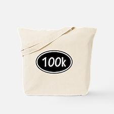 Black 100k Oval Tote Bag