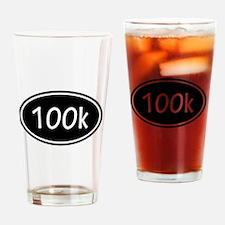 Black 100k Oval Drinking Glass