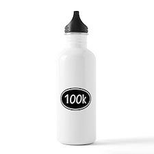 Black 100k Oval Water Bottle