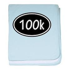 Black 100k Oval baby blanket