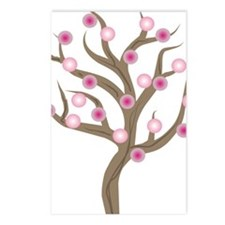 Tree Gails PINK BALLS Postcards (Package of 8)