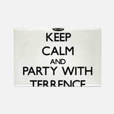 Keep Calm and Party with Terrence Magnets