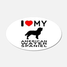 I Love My American Water Spaniel Wall Decal