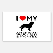 I Love My American Water Spaniel Decal