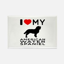 I Love My American Water Spaniel Rectangle Magnet