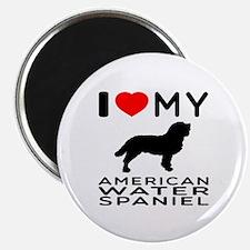 I Love My American Water Spaniel Magnet