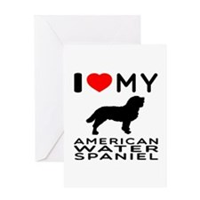 I Love My American Water Spaniel Greeting Card