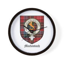Mackintosh Clan Crest Tartan Wall Clock