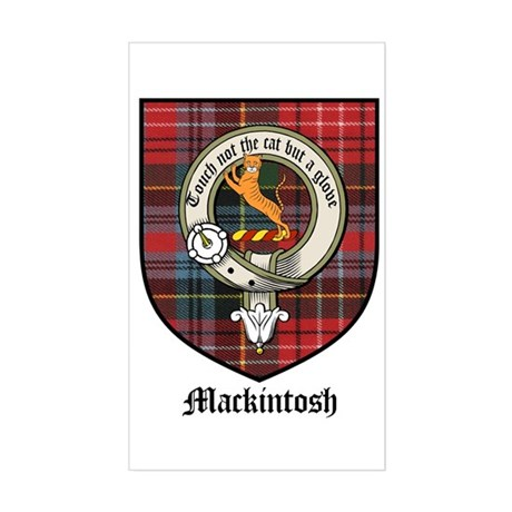 Mackintosh Clan Crest Tartan Rectangle Sticker