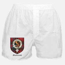Mackintosh Clan Crest Tartan Boxer Shorts