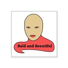 Bald and Beautiful v1.1 Sticker