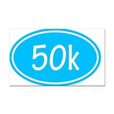 Sky Blue 50k Oval Rectangle Car Magnet