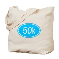 Sky Blue 50k Oval Tote Bag