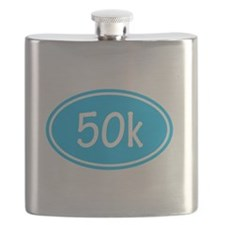 Sky Blue 50k Oval Flask