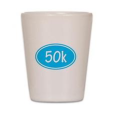 Sky Blue 50k Oval Shot Glass