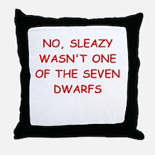 sleazy Throw Pillow