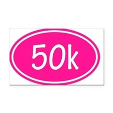 Pink 50k Oval Rectangle Car Magnet