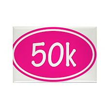 Pink 50k Oval Magnets