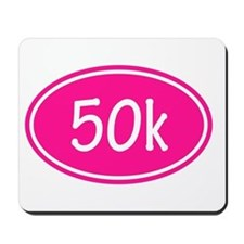 Pink 50k Oval Mousepad