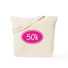 Pink 50k Oval Tote Bag