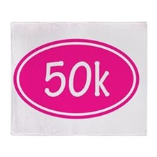 Pink 50k Oval Throw Blanket