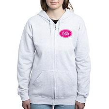 Pink 50k Oval Zip Hoodie