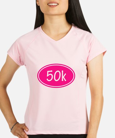 Pink 50k Oval Performance Dry T-Shirt