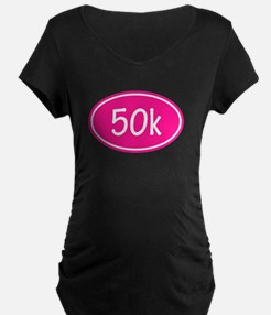 Pink 50k Oval Maternity T-Shirt