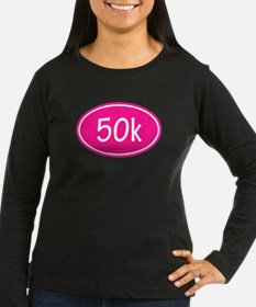 Pink 50k Oval Long Sleeve T-Shirt