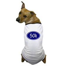 Blue 50k Oval Dog T-Shirt
