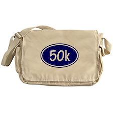 Blue 50k Oval Messenger Bag