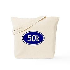 Blue 50k Oval Tote Bag