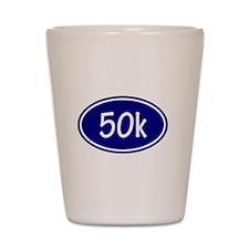 Blue 50k Oval Shot Glass
