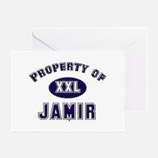 Property of jamir Greeting Cards (Pk of 10)