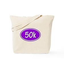 Purple 50k Oval Tote Bag