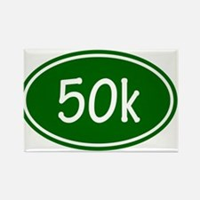 Green 50k Oval Magnets