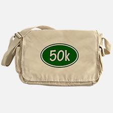 Green 50k Oval Messenger Bag