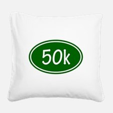 Green 50k Oval Square Canvas Pillow