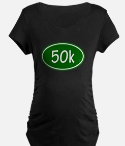 Green 50k Oval Maternity T-Shirt